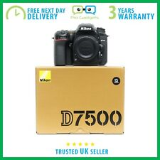 New Nikon D7500 20.9MP DX 4K 8 fps CMOS DSLR Camera Body - 3 Year Warranty