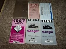 1987 Ford Ranger Owner Operator User Guide Manual GT STX STD XLT 2.0L 2.3L 2.9L