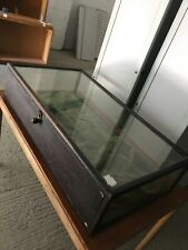 antique jewellery silver display case cabinet glass wood
