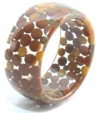 Vintage Lucite Bangle Bracelet Embedded Asprin Pill Polka Dots