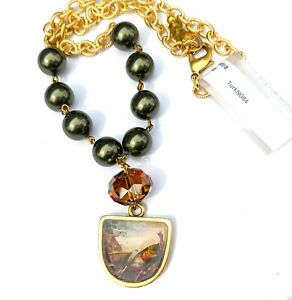 Audubon Painting Turkey made with Swarovski Pearls Crystals by Artist Gay Isber