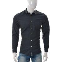Jack & Jones Core Uomo Dylan Camicia Manica Lunga una Tasca Chambray Jeans Grey