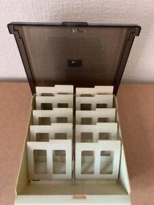 "Vintage PC 3.5"" lockable large Floppy Disk Storage Box good condition"