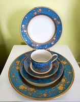 "MIKASA FINE CHINA ""VICTORIAN BLUE"" setting for 1 (5 pieces)  PERFECT!"
