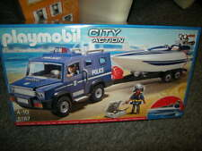 PLAYMOBIL City Action polizia Truck con Chow 4-10 anni n. 5187 IN SCATOLA ORIGINALE