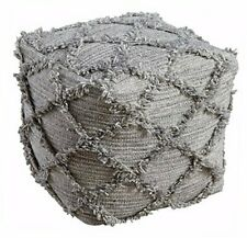 - Adelphie Pouf - Wool - Contemporary - Natural/Gray Grey