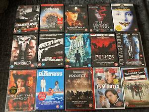 Dvd Bundle (18 Rating) Horror, Action, Thriller