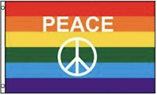 Rainbow Peace Sign Pride 3 X 5 Flag #630 gay rights flags banners New 3x5 decor