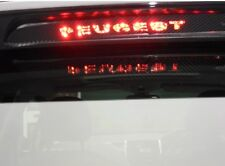 New Carbon Fiber Brake Light Stickers Graphic Decals For Peugeot 2018 SUV GT