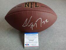 CAROLINA PANTHERS CHRISTIAN McCAFFREY SIGNED WILSON NFL FOOTBALL PSA/DNA AG78935