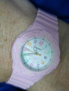 CASIO 3363 10 BAR 24HR DATE PINK SILICONE BAND WATCH WORKS NEW BATTERY A10