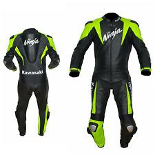 KAWASAKI-1/2 PC-Motorbike/Motorcycle Cowhide Leather Suit Racing Biker,Racer(Rep
