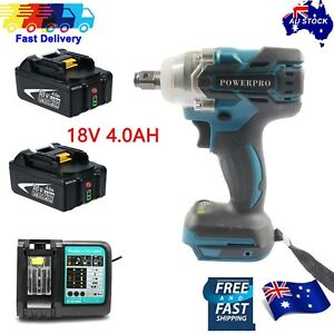 """1/2"""" impact wrench For Makita 350N Brushless motor+2pcs battery+battery charger"""