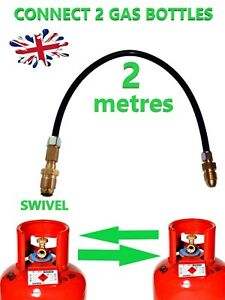 FILL LPG BOTTLE,TRANSFER GAS,PROPANE  FLOW GAS POL SWIVEL LPG 2 METRE PIPE