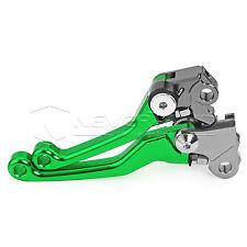 Green CNC Pivot Brake Clutch Levers Fit For Honda CR125R/250R 04-07 CRF250R 450R