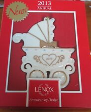 LENOX Porcelain China 2013 Unisex Baby's First Christmas Carriage Ornament