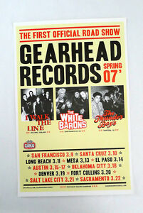 """Gearhead Records """"Road Show"""" Promo Poster 11in x 7in full color Gearhead"""