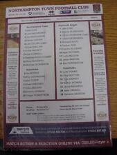 08/02/2014 Colour Teamsheet: Northampton Town v Plymouth Argyle. This item is in