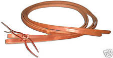Western leather 5/8 x 8 split reins w/ water loop ends custom quality USA H588