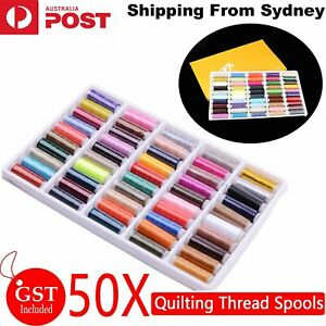 50 Colors Roll Polyester Sewing Thread Boxes Kit Set For Home DIY Sewing Machine