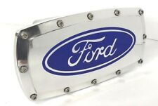 "Ford Oval Emblem 2"" Tow Hitch Cover (Engraved Billet Aluminum Polished)"