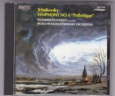 MELODIYA/VICTOR JAPAN CD © 1984*NO BARCODE - FEDOSEEV*TCHAIKOVSKY 6