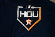 Houston Astros Mens XL Blue T-Shirt 2019 Postseason Majestic MLB Authentic RARE