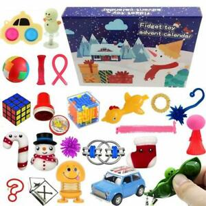 24Pcs Christmas Countdown Advent Calendar Decompression Kid Educational Toy Gift