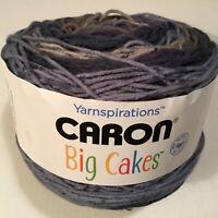 1 HUGE CARON BIG CAKES YARN! NIGHT BERRY 10.5 OZ / 603 YDS 100% ACRYLIC