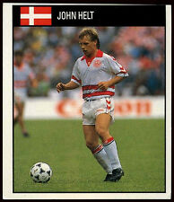 John Helt Denmark #205 Orbis World Cup Football 1990 Sticker (C234)