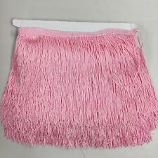 "By the yard-6"" LIGHT PINK Chainette Fabric Fringe Lampshade Lamp Costume Trim"