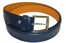 BELT MENS BIG AND TALL JEANS NAVY BLUE LEATHER SIZE 62 GREAT GIFT IDEA RARE BELT