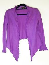 Pure collection 100% cashmere pinkish purple cardigan sweater size S