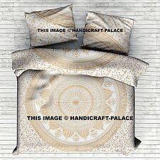 Indian King Size Ombre Mandala Duvet Doona Cover Bohemian Bedding Blanket Set