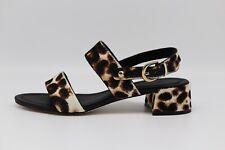 Joie Rach Calf Hair City Sandals  Snow Leopard Size 6B/36 Women's Shoe New