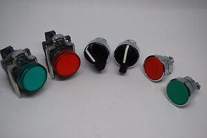 Schneider Electric Telemecanique XB4 Pilot Light, Push Button, Rotary Switch