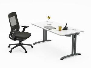 Ergonomic Office Chair & Desk, Home Office Bundle, Various Size/Colours