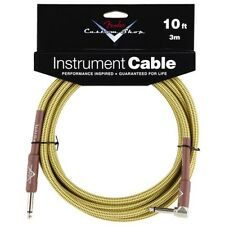 Fender® 10' Custom Shop Tweed Guitar Instrument Cable Straight/Angled 0990820029