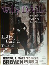 WILLY DE VILLE 1996 BREMEN   -  orig.Concert Poster  --  Konzert Plakat   A1 NEU