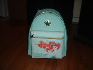 LOUNGEFLY DISNEY ARIEL WITH SHELLS MINI BACKPACK~ WITH TAGS~BRAND NEW~