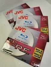 4х New JVC Blu-ray Rewritable Disc, x25GB BD-RE (Made in Japan)