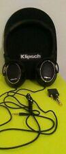 Klipsch Over Ear Headphones Black &  Silver w/ Case