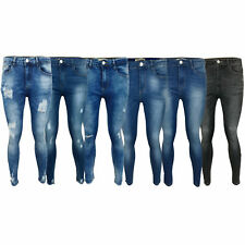Ladies Ripped Denim Jeans Womens Skinny Slim Fit Pants Trousers Stretch Summer