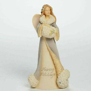 Foundations*HAPPY HOLIDAYS ANGEL*New*NIB*Figurine*CHRISTMAS*Karen Hahn*4041225