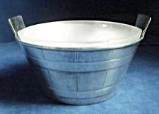 """SUPERB 6"""" ~ SILVER Plate & FROSTED Glass ~ BUTTER / Olive BOWL ~ c1900"""