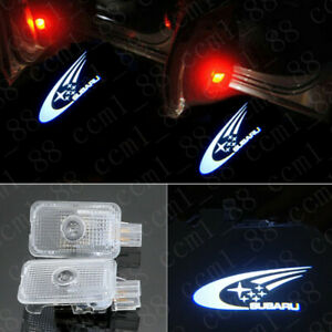 2 LED Ghost Door Courtesy Shadow Laser Light For Subaru Forester Impreza Outback