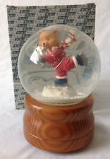 Westland Skater Waltz Musical Snow Globe with Ice Skating Teddy Bear