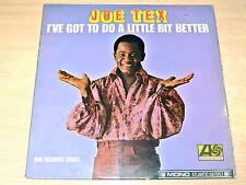 EX/EX !! Joe Tex/I've Got To Do A Little Bit Better/1966 Atlantic Mono LP