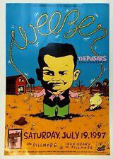 Weezer The Fillmore 1997 Concert Poster The Pulsars Fluorescein Bill Graham