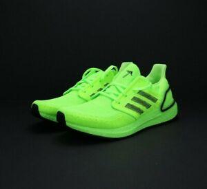 Brand New Adidas Mens Ultraboost 20 Black Signal Green Running Shoes EG0710